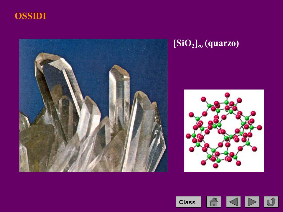 OSSIDI [SiO2] (quarzo) Class.